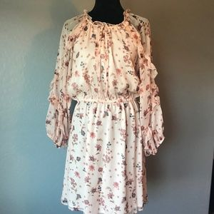 CeCe Pink Floral Dress, New with Tags, Size Large